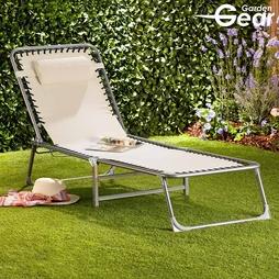 Garden Gear Padded Zero Gravity Chair Stone