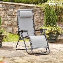 Garden Gear Padded Zero Gravity Chair Grey