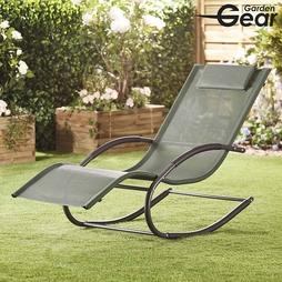 Garden Gear Premium Zero Gravity Rocking Lounger Green